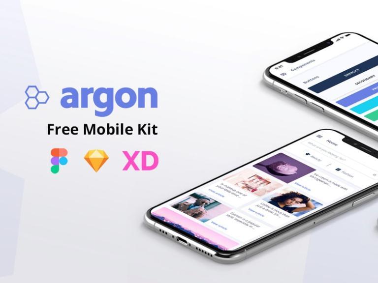 Argon Mobile UI Kit from UIGarage