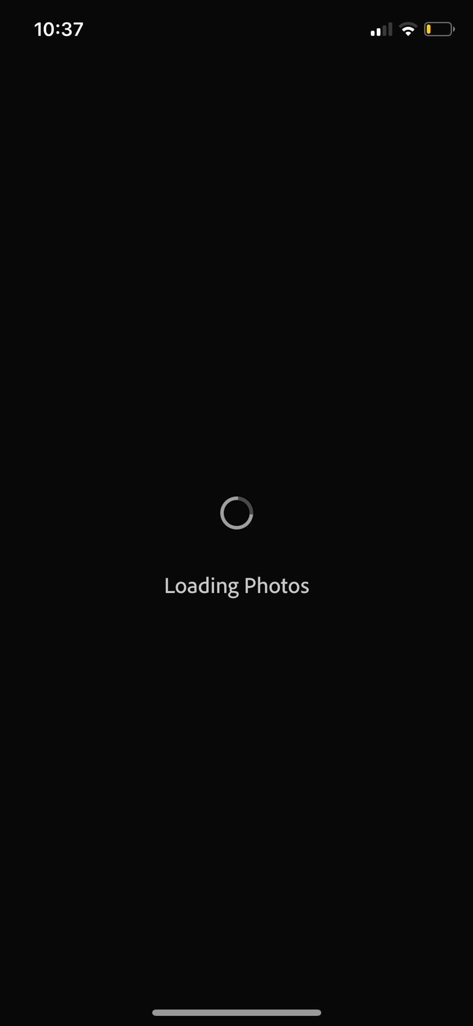 Loading on iOS by Adobe Lightroom from UIGarage