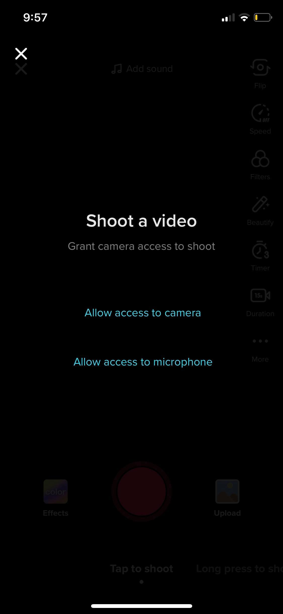 Shoot a Video on iOS by Tiktok from UIGarage