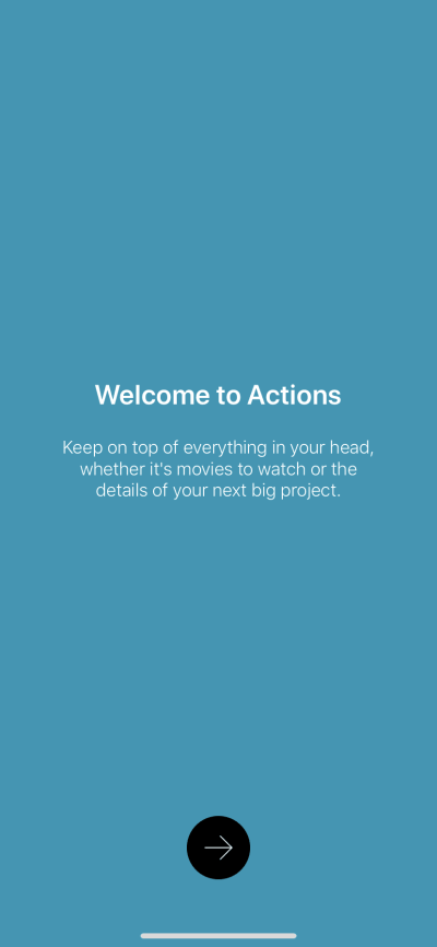 Welcome on iOS by Actions from UIGarage
