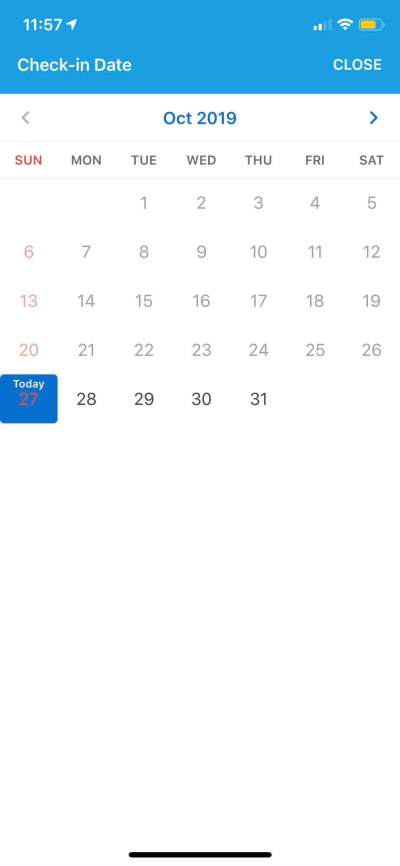 Calendar on iOS by Traveloka from UIGarage