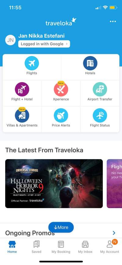 Home on iOS by Traveloka from UIGarage