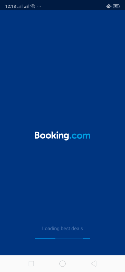 Launch Screen on Android by Booking.com from UIGarage