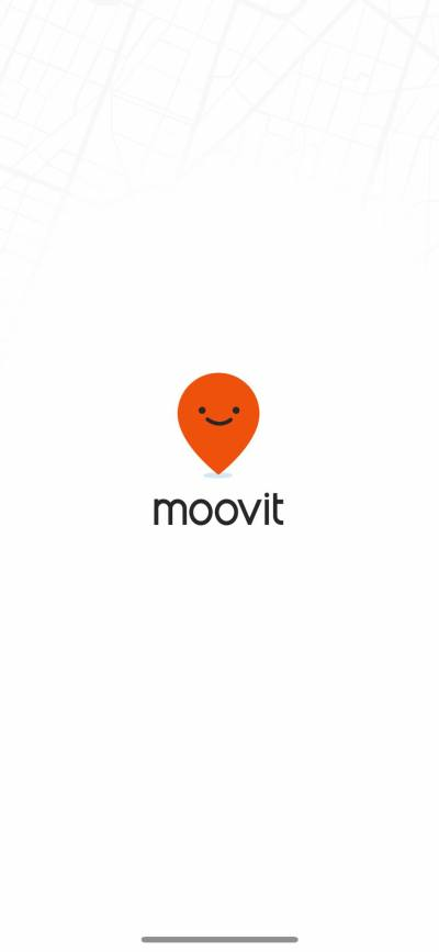 Launch Screen on iOS by Moovit from UIGarage