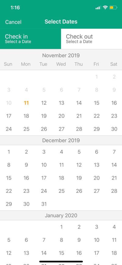 Calendar on iOS by Tripadvisor from UIGarage