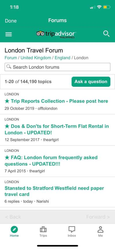 Forums on iOS by Tripadvisor from UIGarage