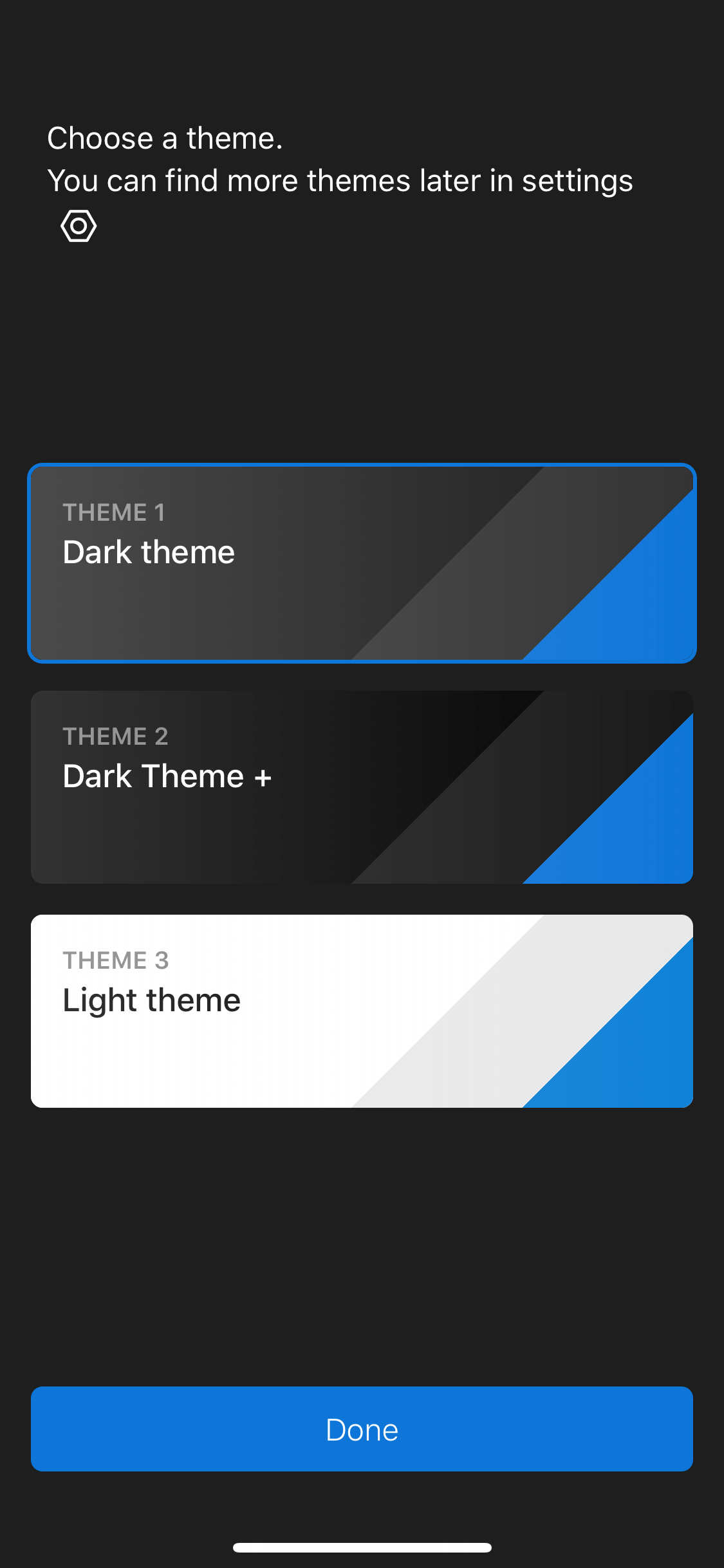 Theme Picker on iOS by Polarr from UIGarage