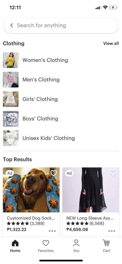 Clothing on iOS by Etsy from UIGarage