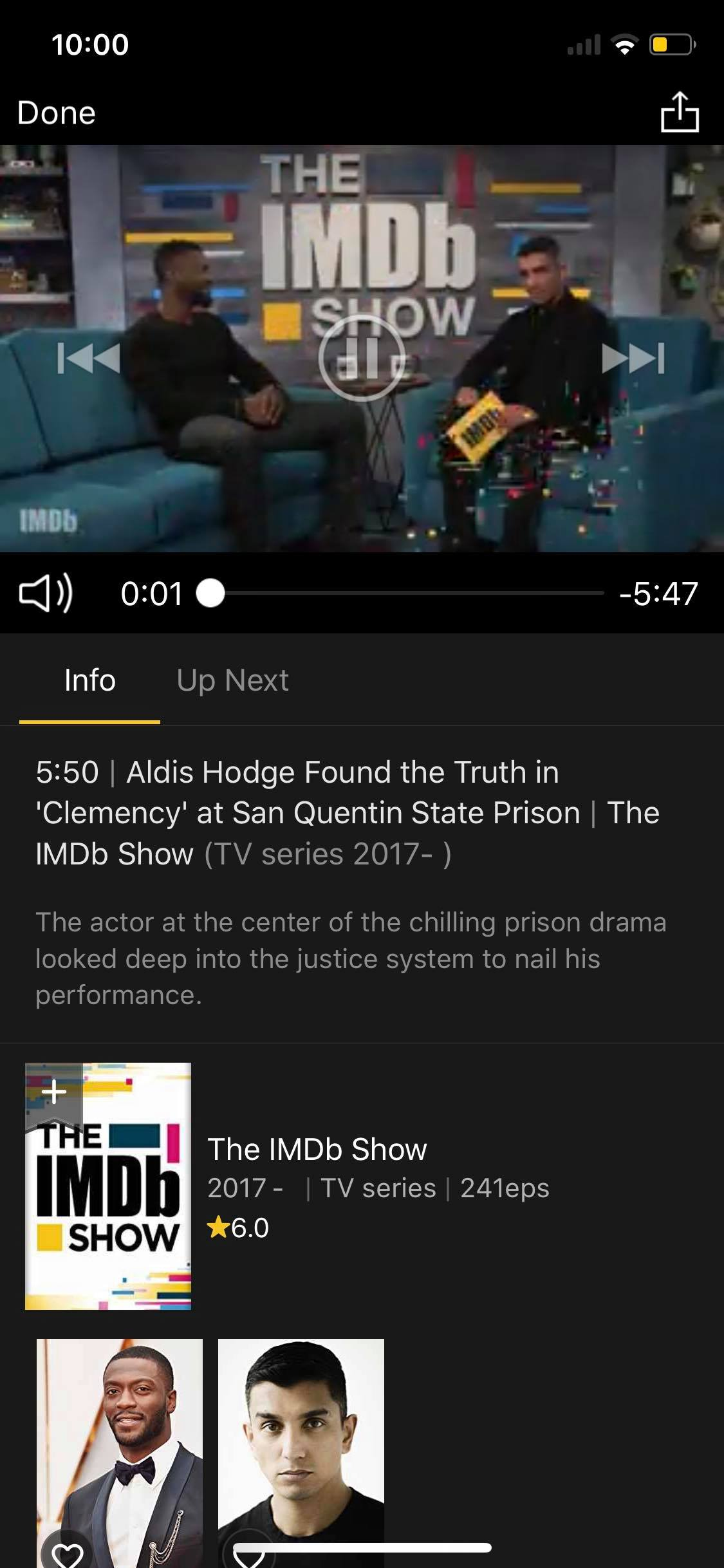 Content Screen on iOS by IMDb from UIGarage