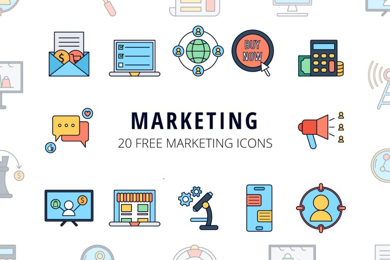 Marketing Vector Free Icon Set from UIGarage