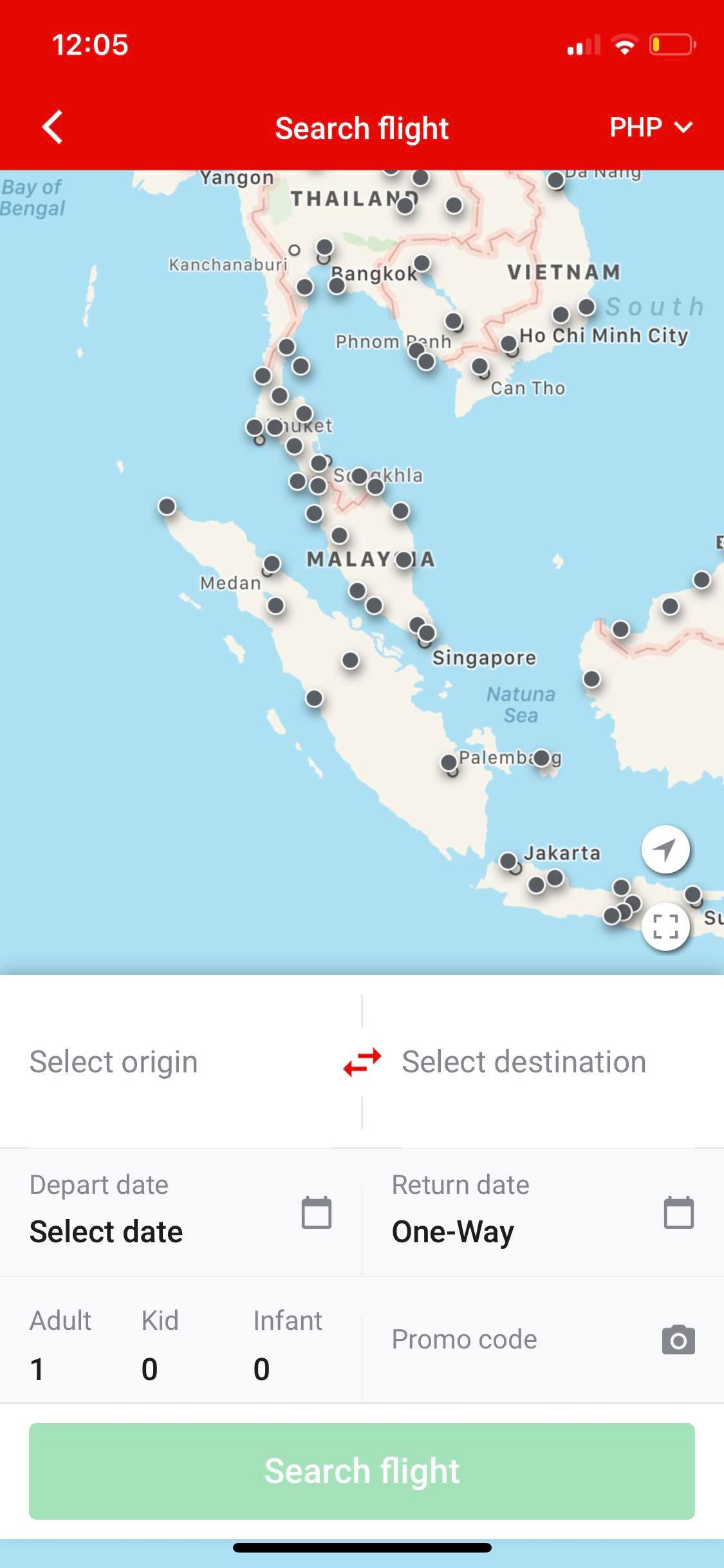 Maps on iOS by AirAsia from UIGarage