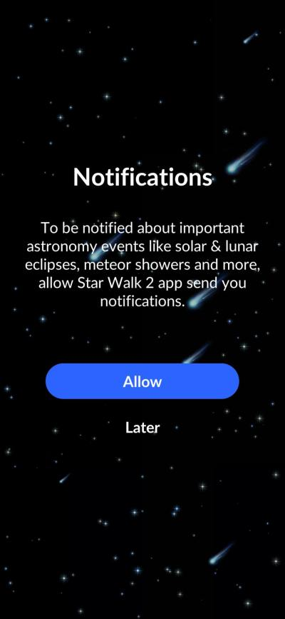 Notifications on iOS by Star Walk from UIGarage