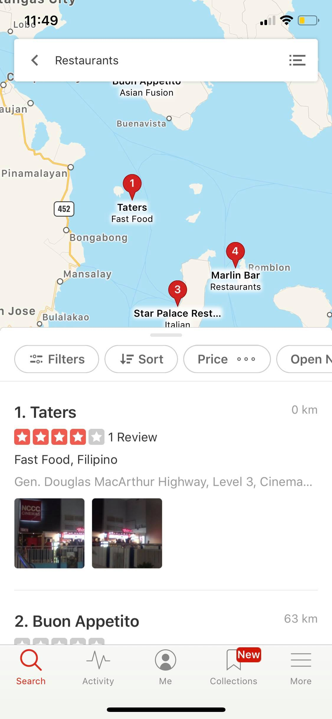 Maps on iOS by Yelp from UIGarage