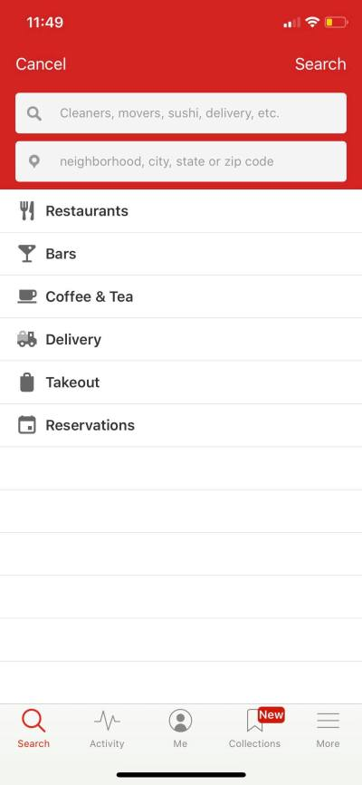 Search on iOS by Yelp from UIGarage