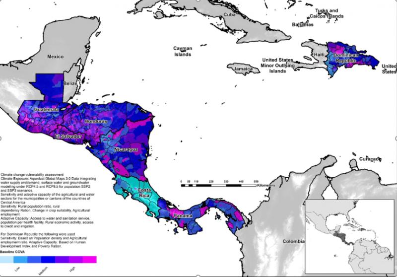 analisis vulnerabilidad corredor seco mapa