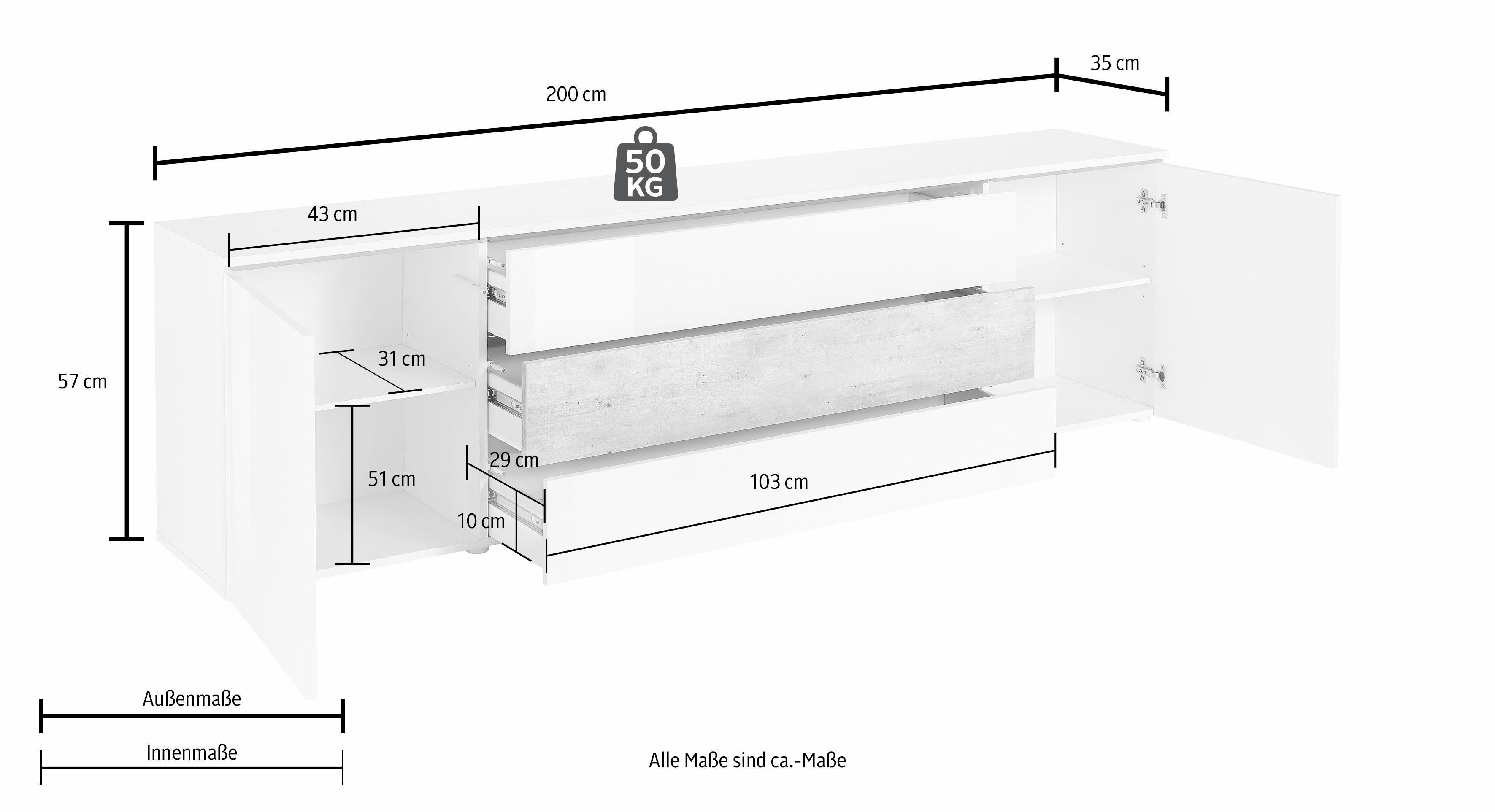 largeur 200 cm meubles tv unigro be