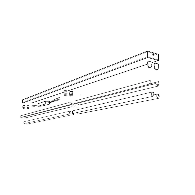 Espen Rxs8 432 Usp Wh 10pk Strip Retrofit Kit White