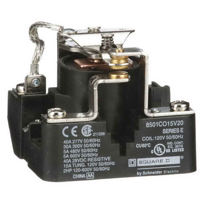 Square D Co15v20 1 Pole 1 No 1 Nc Spdt Power Relay