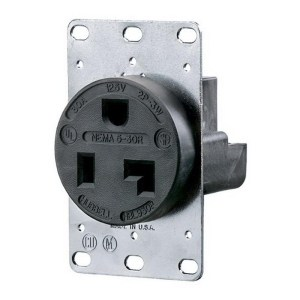 HubbellWiring HBL9308 Straight Blade Single Receptacle 30