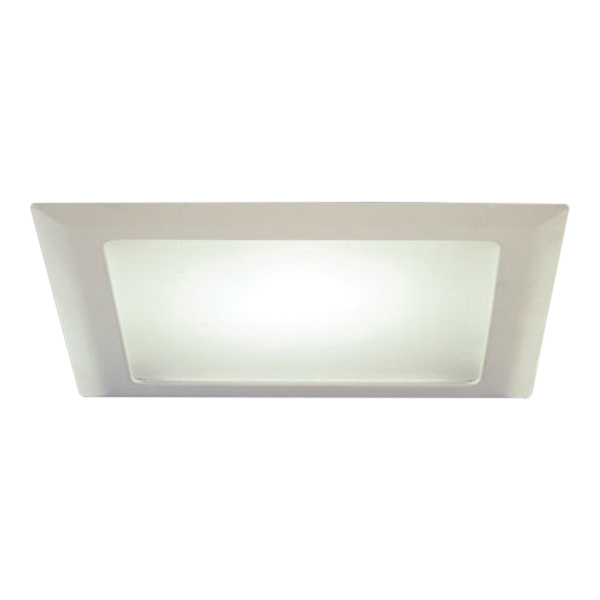 halo 20p 10 inch trim with albalite glass lens white