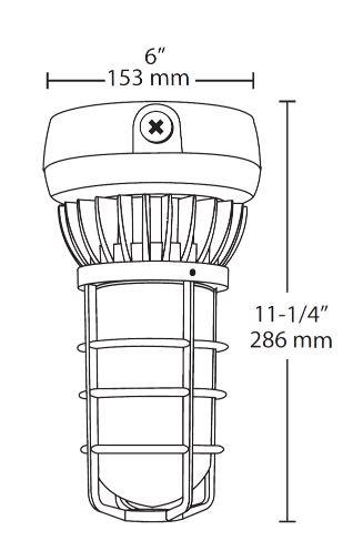 Rab Vxled13ndg Led Vaporproof Fixture 13 Watt 100