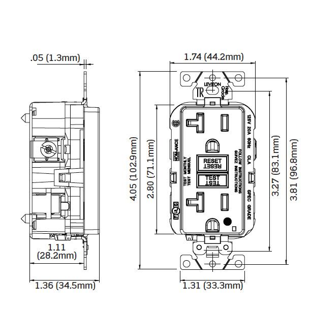 Leviton Gftr2 Hfr Extra Heavy Duty Tamper Resistant Gfci