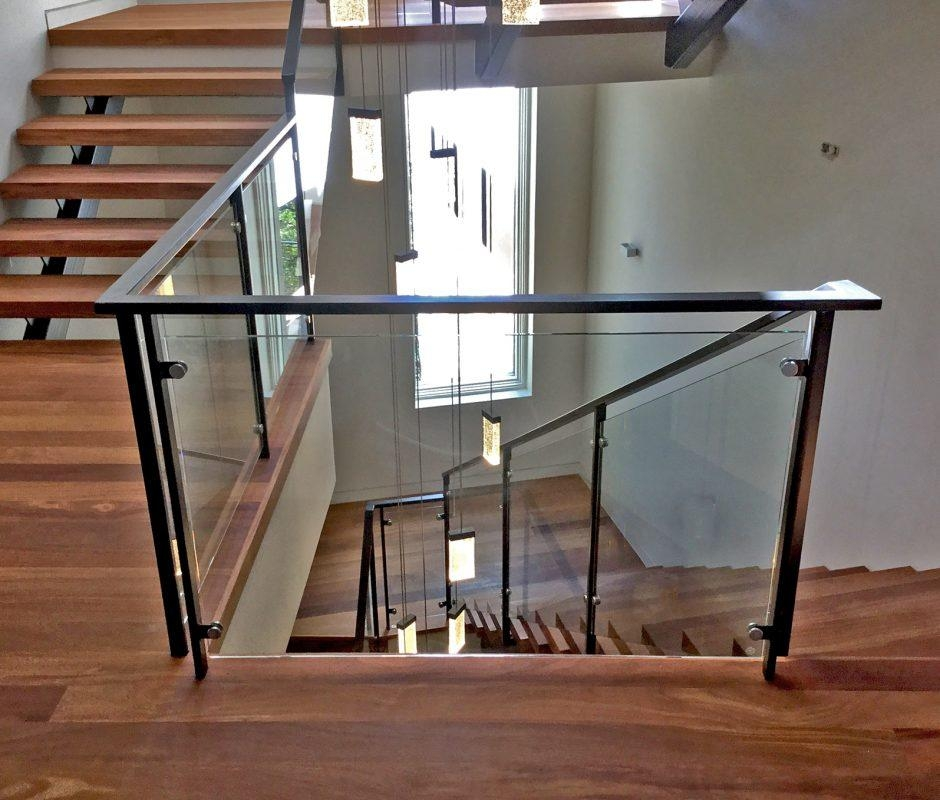 Open Up Your View With Glass Handrails Blog Anchor Ventana Glass   Wooden Handrail With Glass   Contemporary Wood Glass   Oak   Timber   Staircase   Steel