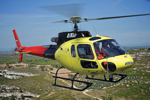 UTair's fleet consists of Russian Helicopters and Airbus Helicopters variants, along with the Robinson R44. Shown here is an AS350 B3. Anthony Pecchi Photo/Airbus Helicopters Photo
