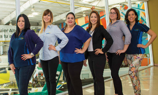 The Ecolift administrative team; Delia, Valeria, Maria, Christie, Irenes and Fabianna.