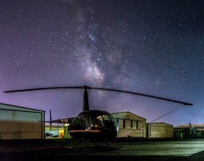 A Robinson R44 Raven II at Upper Limit Aviation - Cedar City. Photo submitted by Ben Schaefer