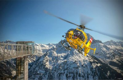 The Austrian rescue helicopter Christophorus 8.