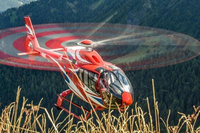 An Airbus Helicopters EC120 flying in northern Italy