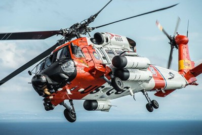 The mighty MH-60T in formation flight off the coast of San Diego.