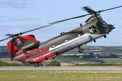 Royal Air Force CH-47D Chinook HC.4 at RNAS Culdrose