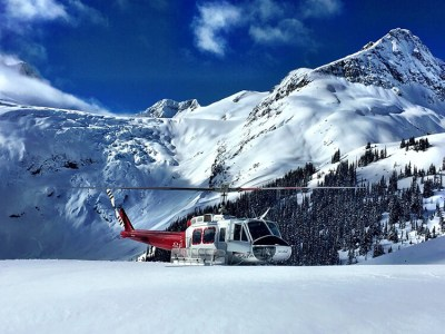 The day's lunch spot with Whistler Heli-Skiing