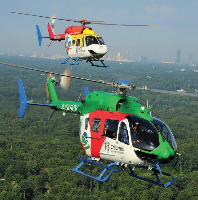 CHOA is now using the older BK117 as a backup aircraft, allowing it to carry a parent or second patient even when it's primary helicopter is down for maintenance.