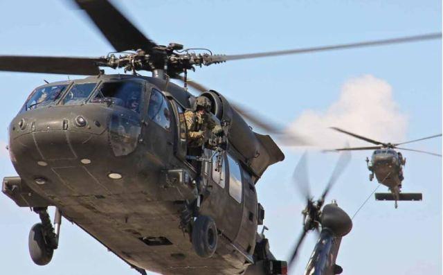 Black Hawk helicopter in flight
