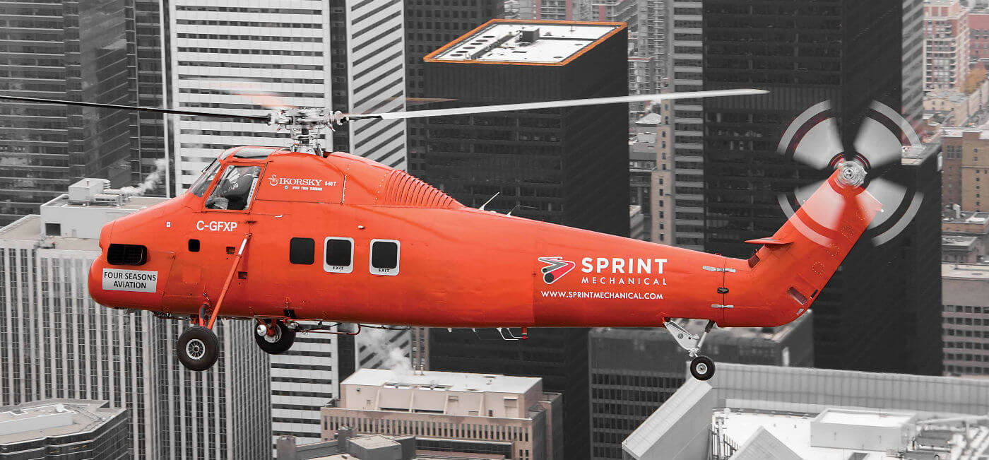 Four Seasons Aviation began operating a Sikorsky S-58ET in Toronto, Ontario, in October 2016. The aircraft, brought to the company through a partnership with local mechanical construction firm Sprint Mechanical, will be used to perform lifts on aerial construction projects in the city.