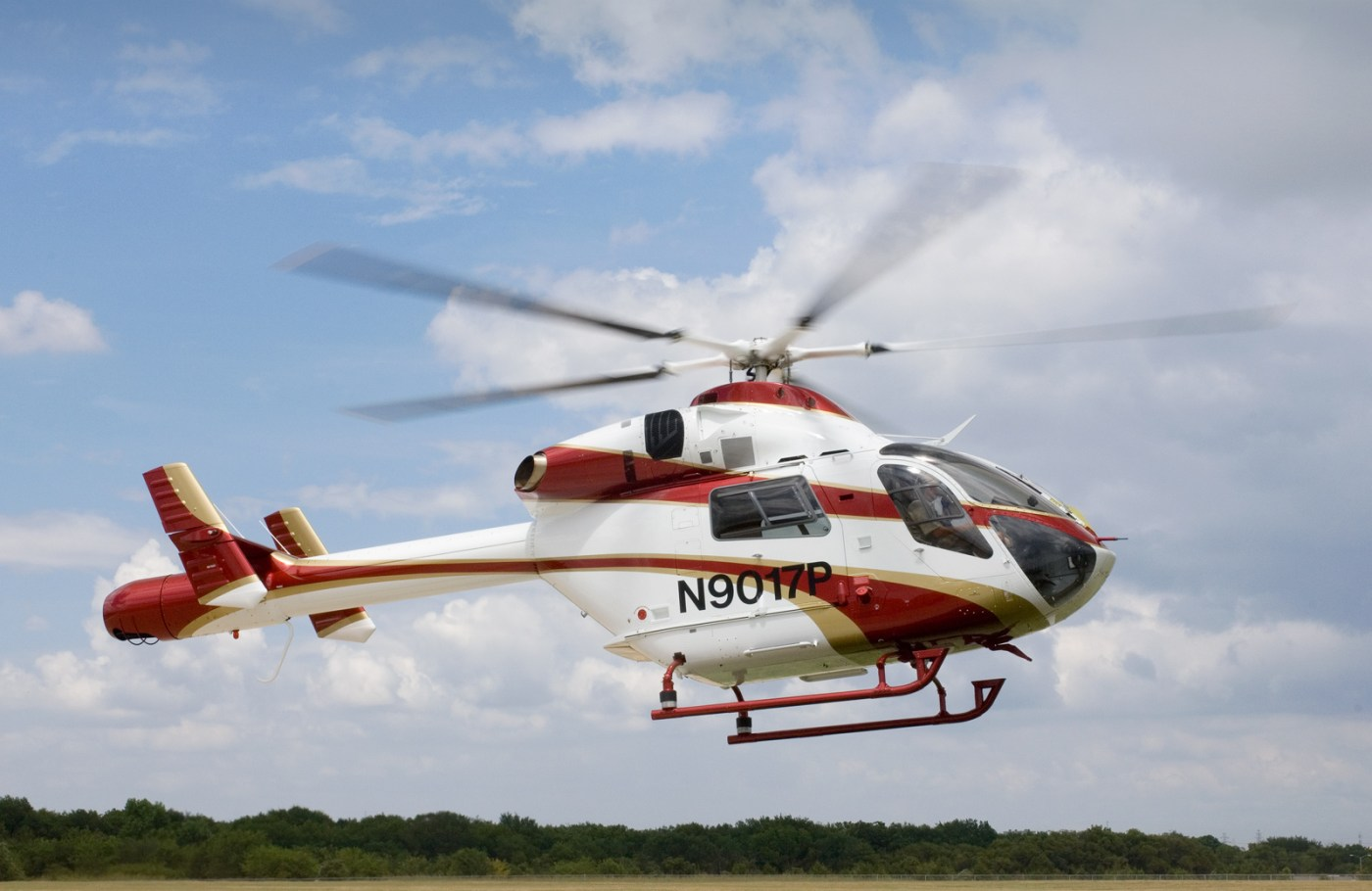 The system's hover view mode allows pilots to utilize the display to hold a hover without ground reference — especially useful when hovering outside of ground effect. MD Helicopters Photo