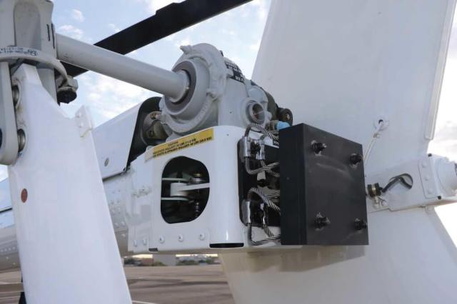 The tail rotor system is all Bell 206. Note the weight on the tail for C.G. purposes. It is mounted on steel
