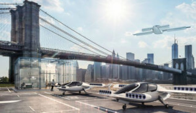 Lilium is developing a five-seat e-VTOL aircraft as an on-demand air taxi. Lilium Image