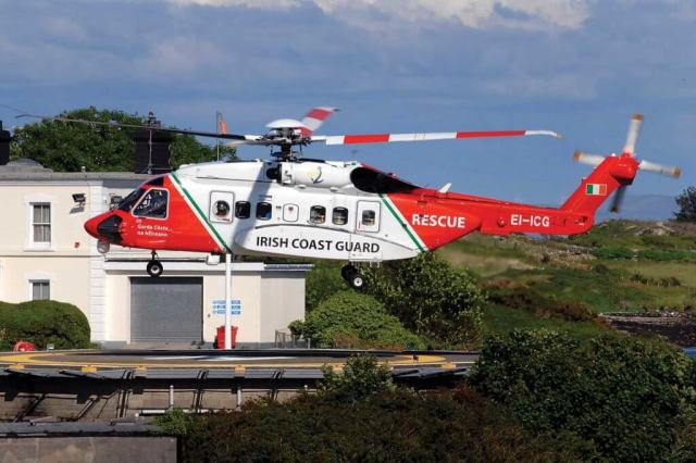 A CHC-operated Irish Coast Guard S-92. Tragically, just days before the company emerged from the Chapter 11 process, one of the Coast Guard's S-92s crashed off the west coast of Ireland. Niall Duffy Photo