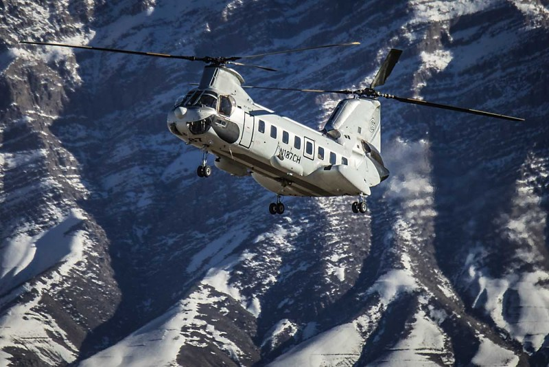 From June, Columbia will have nine Columbia Vertol 107-II aircraft and a Columbia 234 Chinook in the country. Thomas Larkin Photo