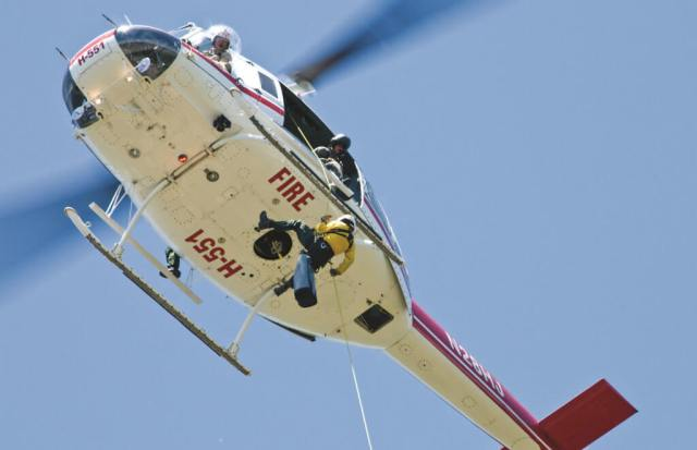 Heli-rappel operations were suspended nationwide in 2010 following an investigation into the death of a wildland firefighter. The suspension was lifted last year following procedural and gear changes, and Yosemite was quick to reinstate rappelling operations. Rappellers must recertify every two weeks.