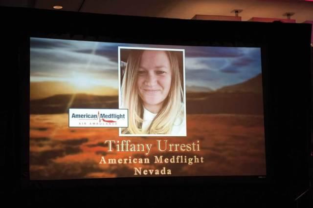 Flight nurse Tiffany Urresti was killed in a plane crash on Nov. 18, 2016.