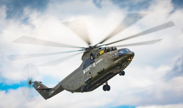 Flown by both military and civilian operators, the heavy-lift Mi-26 is the world's largest production helicopter, with the latest version, the Mi-26T, capable of carrying up to 20 tons of cargo. At MAKS 2017, the aircraft climbed to altitude to drop a number of parachuters. Amit Agronov Photos