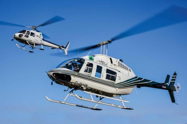 The AStar and LongRanger are joined in the Heli Muskoka fleet by one Robinson R44, but the larger aircraft perform the bulk of the work.