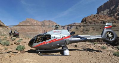 The Above, Below & Beyond Tour features highly-trained adventure guides and breathtaking views of the Grand Canyon West Rim from 3,500 feet below the rim, at the rim itself and aboard Maverick Helicopters' state-of-the-art aircraft. Maverick Photo