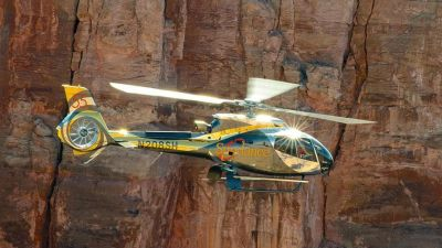 Guests will board a state-of-the-art helicopter where they'll experience majestic, sweeping views of Lake Mead, the Mojave Desert, and the Grand Canyon with a landing option at a private bluff for a champagne toast. Sundance Photo