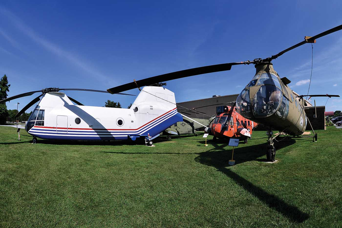 The American Helicopter Museum and Education Center has quite a collection of historic rotary-wing aircraft, including the Boeing Model 360, and its predecessor, the Vertol CH-21 Shawnee. Skip Robinson
